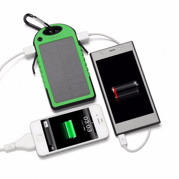 New Solar Power Bank with LED  + Emergency Camping Flashlight Light Torch Lamp
