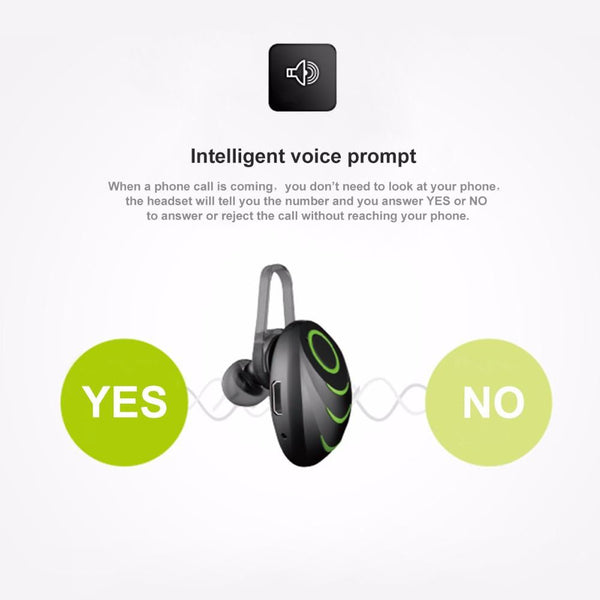 New Wireless Bluetooth One-Piece Earphone Speakerphone with Smart Voice Control