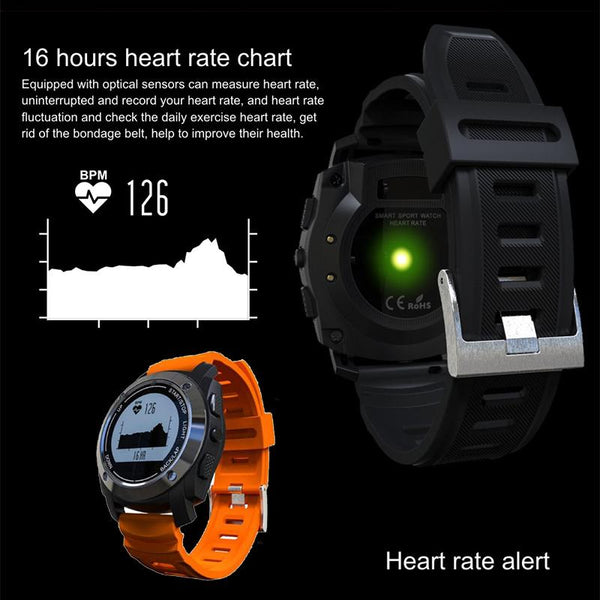 New Intelligent Heart Rate Monitor Smart Watch with GPS Tracker Air Pressure Monitor Sports Watch Phone