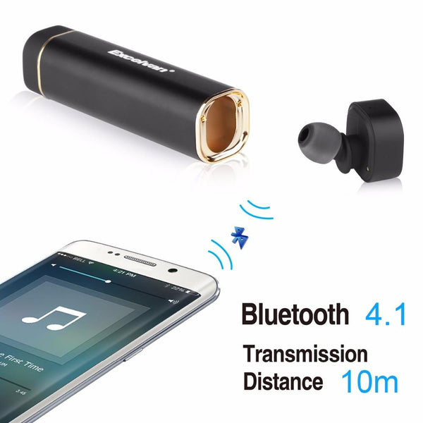 Excelvan K1 Bluetooth Stereo Handsfree One-Piece Earphone With Power Bank