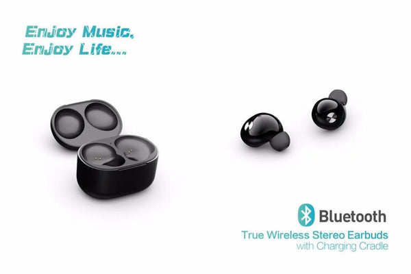 NiUB5 Twins True Wireless Bluetooth Earphone with Mic In-Ear Mini Bluetooth Earbuds with Portable Charger