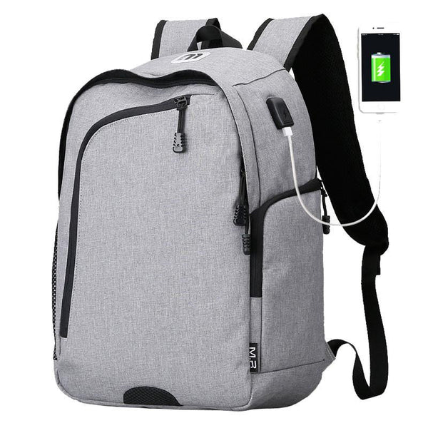 Business Casual Men's 14 Inch Laptop Backpacks for Leisure Travel Daypacking with Battery Slot for USB Charging