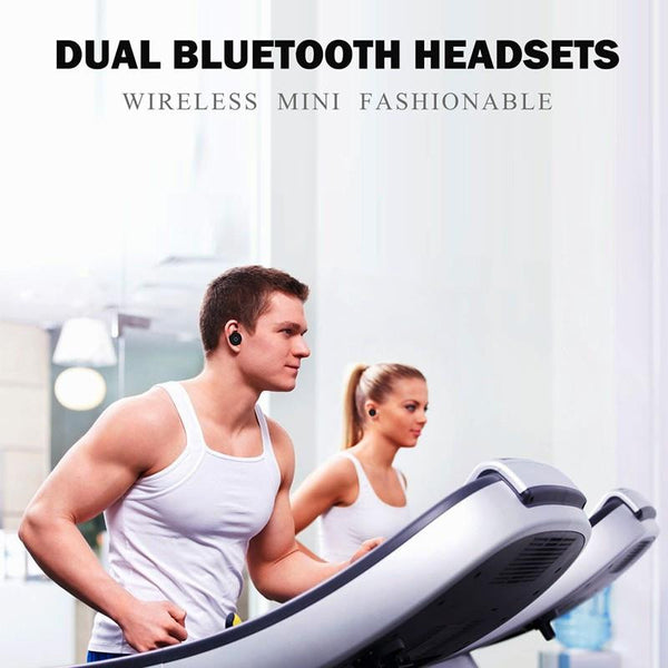 New Dynamic Mini Business Wireless Bluetooth Earbuds Earphones with Microphone