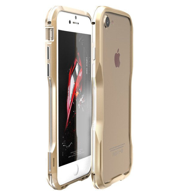 New Metal Shockproof Premium Frame Case with Sound Chamber - Aluminum Frame for iPhone 7 & 7 Plus
