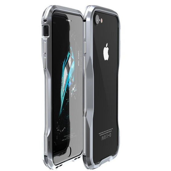 New Metal Shockproof Premium Frame Case w/ Sound Chamber - Aluminum Frame for iPhone 7 8 X XS XR Series