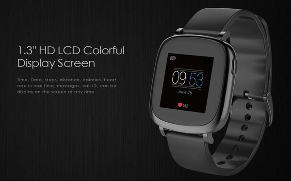 New Full Color TFT LCD Screen Bluetooth Smart Band Fitness Watch with Pedometer Heart Rate Monitor for IOS Android Smartphone