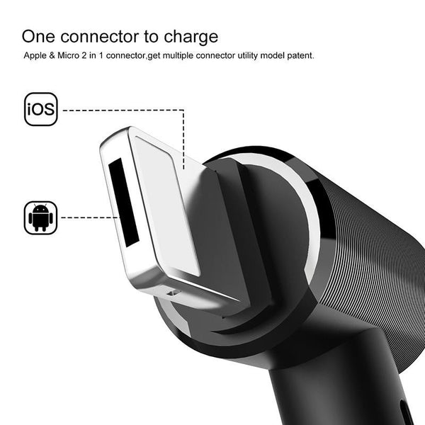 New Dual-use USB Magnetic Charger Cable For iPhone 5 6 7 Samsung Galaxy Series Huawei Xiaomi and Tablets