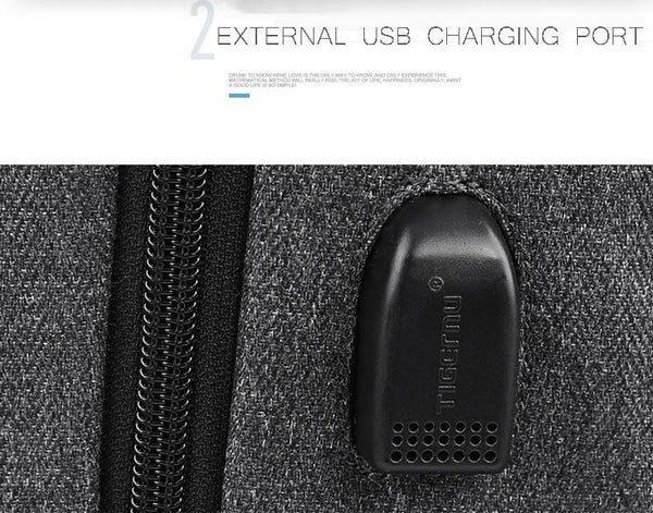 New Multifunctional USB Charging Laptop Backpack 15.6 Inch Backpack