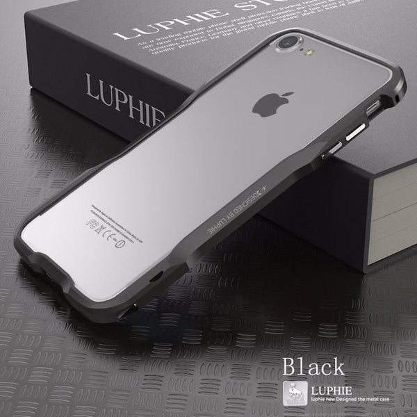 Premium Incisive Aluminum Bumper Case with Prismatic Shape Frame for iPhone 7 / 7 Plus