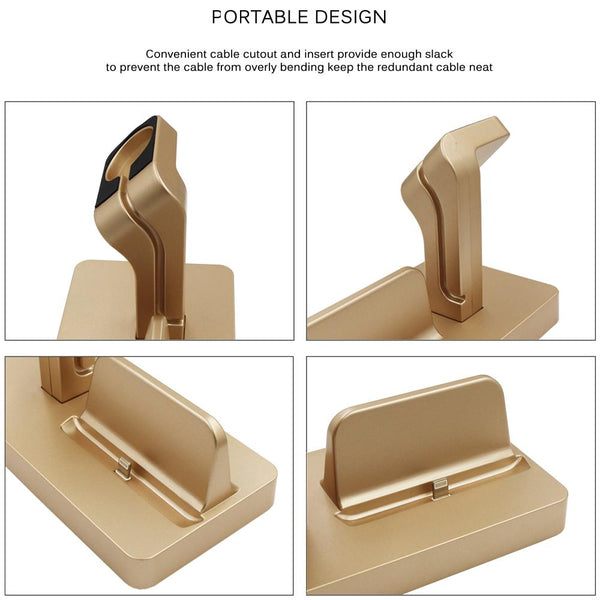 New Desktop Angled Stand Holder Bracket Cradle Charger Dock Station for iPhone iWatch