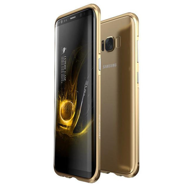 New Ultra Slim Aluminum Metal Frame Shockproof Bumper Case with Full Edge Protection for Samsung Galaxy S8 S9 Series