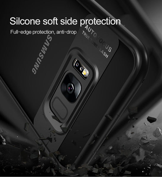 New Full Protective Ultra Slim Case with TPU & Acrylic Transparent Back Cover for Samsung Galaxy S8 and S8 Plus