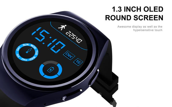 New OLED Luxury Fashion Smart Watch Heart Rate Monitor Clock Support SIM TF Card