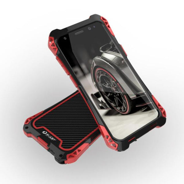 New Amira Armor Carbon Fiber Aluminum Shockproof Cover case for Samsung Galaxy S8 Plus w/ Outdoor Anti-Knock Phone Cases