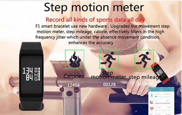 New Fitness Tracker Wristband Heart Rate Monitor Smart Band with Blood Pressure Pedometer