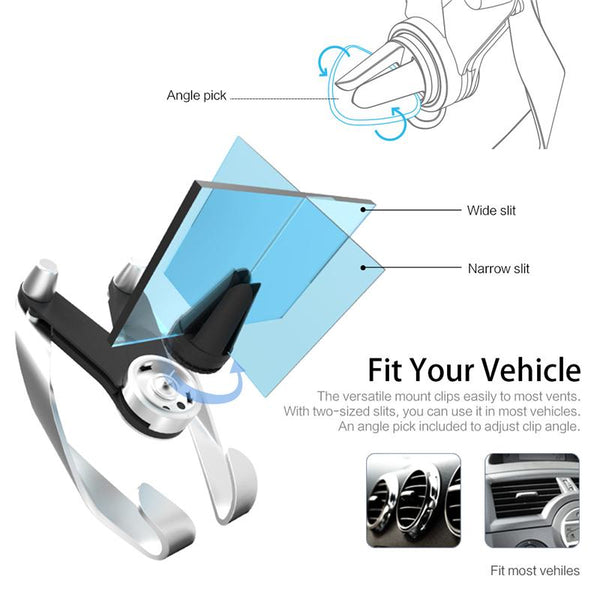 New Universal Compatibility Mobile Car Phone Holder Air Vent Mount Mobile Phone Stand Holder for iPhone Samsung Xiaomi HTC GPS