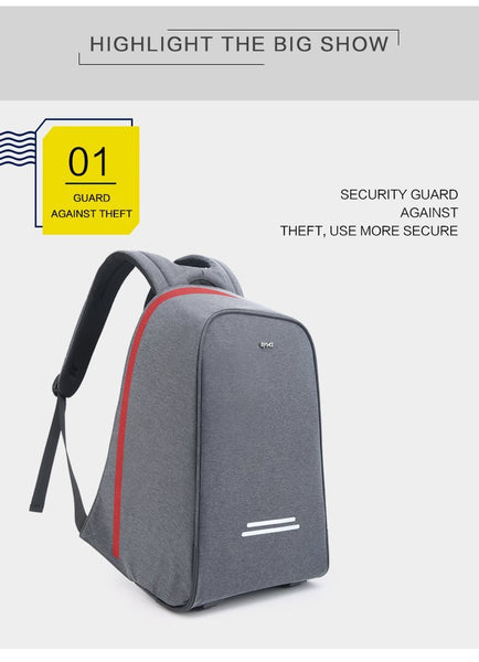New Multifunction Anti-Theft USB Charging 15.6 Inch Laptop Backpack Nylon Bagpack