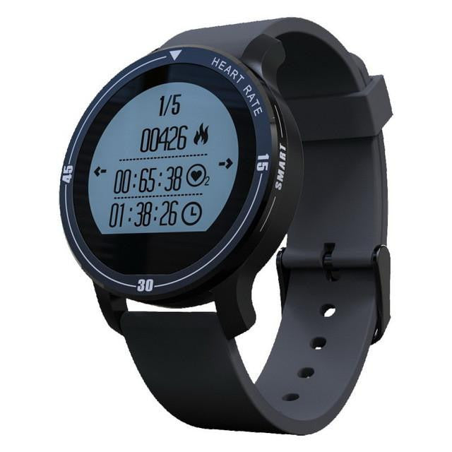 New Deluxe IP67 Waterproof Sports Smartwatch with Heart Rate Monitor for Swimming Running Alarm & Weather