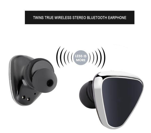 True Wireless Sport Earbuds Bluetooth Stereo Earphone Charging Station Earbuds Handsfree Earphones