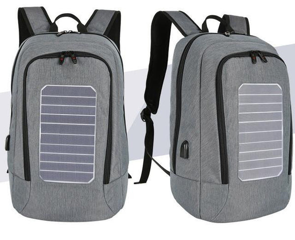 New 15 Inch Laptop Business Water-Resistant Knapsack Anti-Theft Solar Panel Backpack Bag for Men and Women's Travel