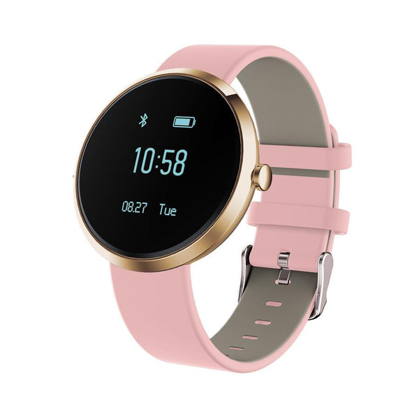 New Blood Pressure Round Bluetooth Fitness Wrist Watch  with Sleep Blood Pressure and Heart Rate Tracker