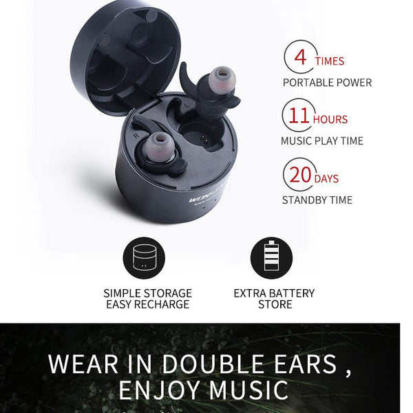 New Mini Wireless Bluetooth Earphones Sport Wireless Bluetooth Earbuds with Microphone and Charge Case