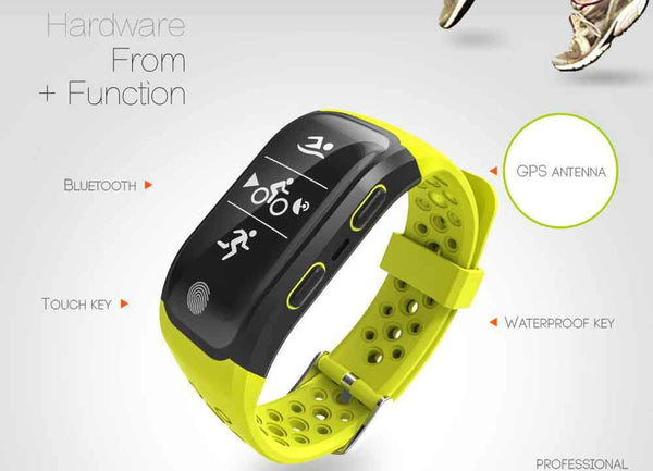 New Bluetooth GPS Smart Band IP68 Waterproof Smart Wristband Heart Rate Fitness Tracker Bracelet Pedometer