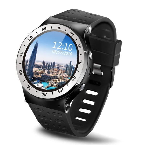 New Quad Core 1.0GHz 8GB ROM Smartwatch Wristwatch Phone Android 5.1 with Heart Rate WiFi Bluetooth