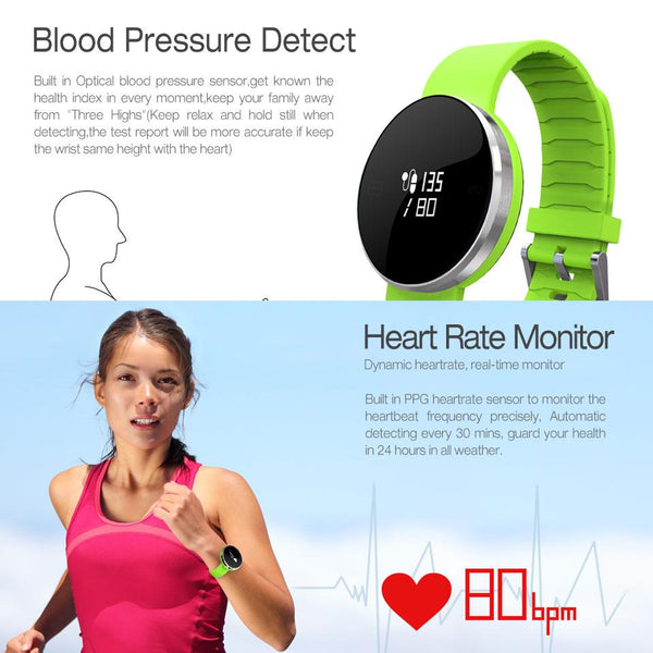 New Smart Watch Bracelet Waterproof Blood Pressure Heart Rate Monitor Fitness Tracker for Android iOS