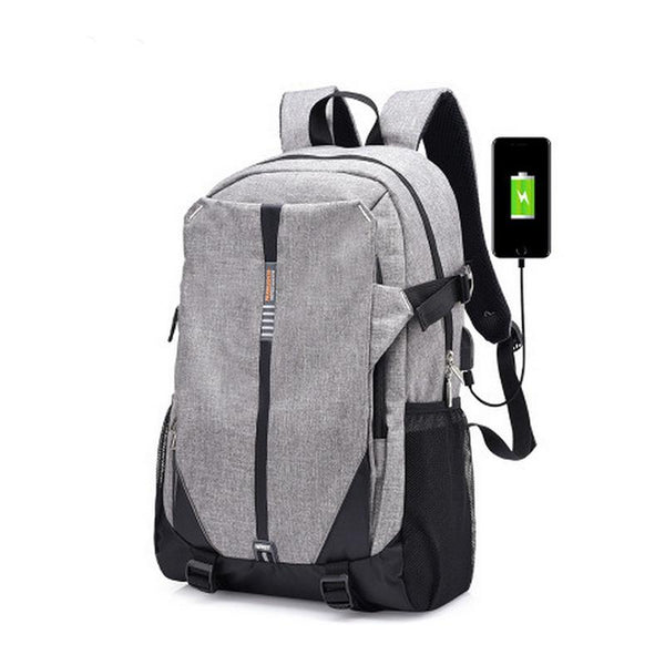 New Ultra Light Canvas External USB Charging Smart Casual Backpack for Travel Daypacking