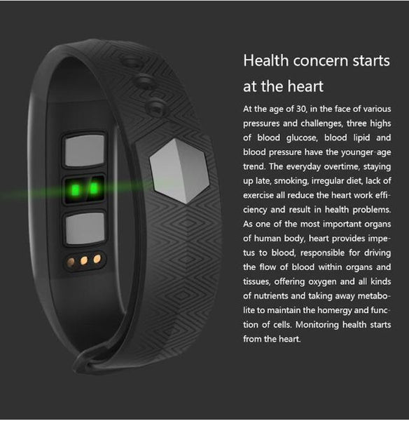 New Heart Rate Blood Pressure Smart Bracelet Activity Tracker for iPhone Android Sleep Pedometer
