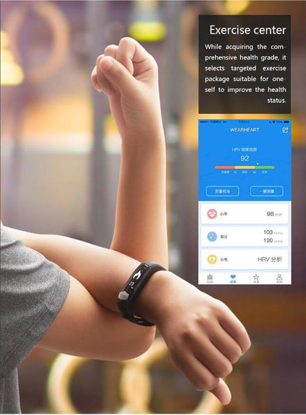 New Heartrate Blood Pressure Smart Bracelet Activity Tracker for iPhone Android Sleep Pedometer