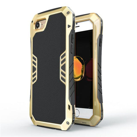 New Luxury Cavalier Aluminum Armour Metal Cases with Anti-Knock Back Cover for iPhone 7 / 7 Plus