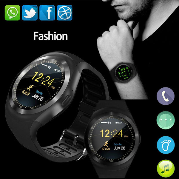 New Simplistic Round Business Smart Watch Support Nano SIM &TF Card with Whatsapp & Facebook for IOS Android