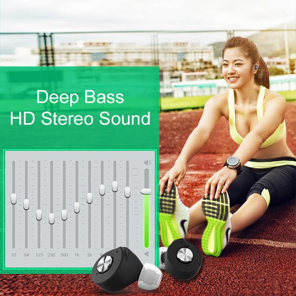 New Mini Leisure Twins Bluetooth Handsfree Earphone TWS Headset with Power Bank for Smartphone Android IOS