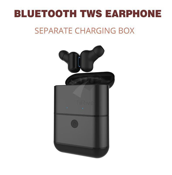New Mini Wireless Bluetooth Headset TWS Earphones with Microphone Separate Charging Box