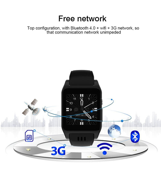 New Casual Bluetooth Smart Watch Android 4.4.2 Camera Support 3G Wifi Single Nano SIM Card