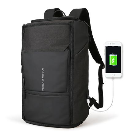 NEW ARRIVAL - High Capacity USB Recharging Backpack 180 Degree Travel Bag Fit for 17.3 Inches Laptop New Design Bag