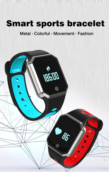 New Stylish Blood Pressure Bracelet Smart Wristband Heart Rate Waterproof Smart Watch