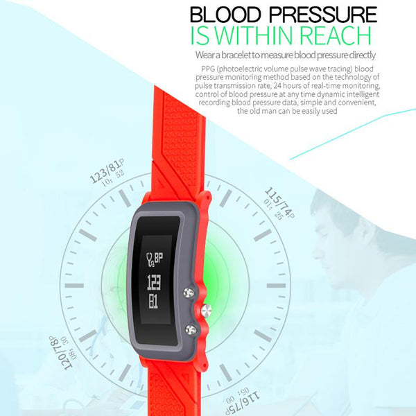 New Slim Fitted Smart Band Smart Bracelet Pedometer Blood Pressure Oxygen Fitness Tracker Heart Rate Smart Wristband