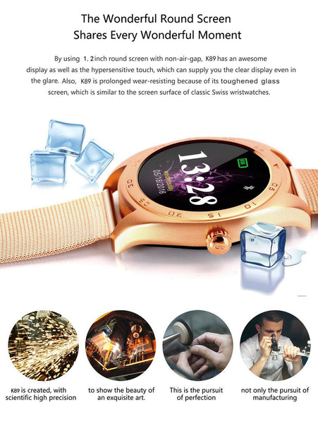 New Smart Watch Bluetooth Gesture Call Message Reminder Heart Rate Monitor Smartwatch For Apple IOS Android Phones