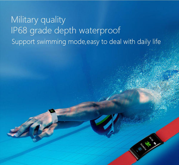 New IP68 Waterproof Smart Fitness Bracelet Pedometer Blood Pressure Smart Wristband Android iOS Activity Tracker