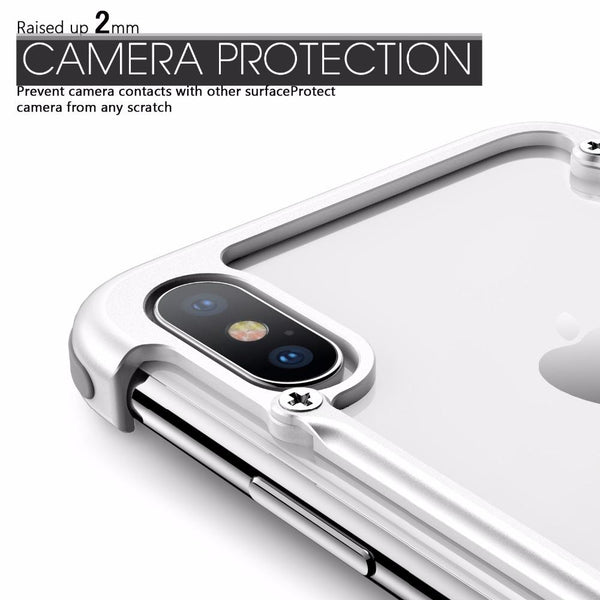 New Dynamic Metal Luxury Ultra Slim Light Protective Shell Case Cover for iPhone X Metal Bumper