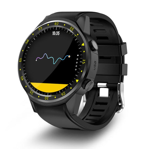 New 1.3 Inch Bluetooth Full Round IPS Touch Screen Smart GPS Sports Watch Phone for IOS Android