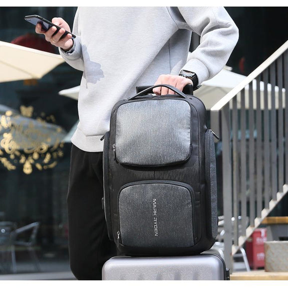 New Smart USB Charging Men's Backpack Bag for 15.6 Inch Laptop Backpack High Capacity Men Travel Backpack
