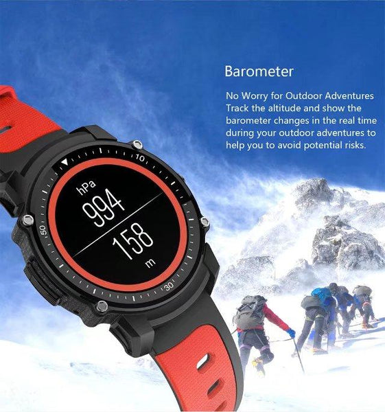 New Super Sport GPS Smart Watch IP68 Waterproof with Bluetooth Heart Rate Fitness Tracker