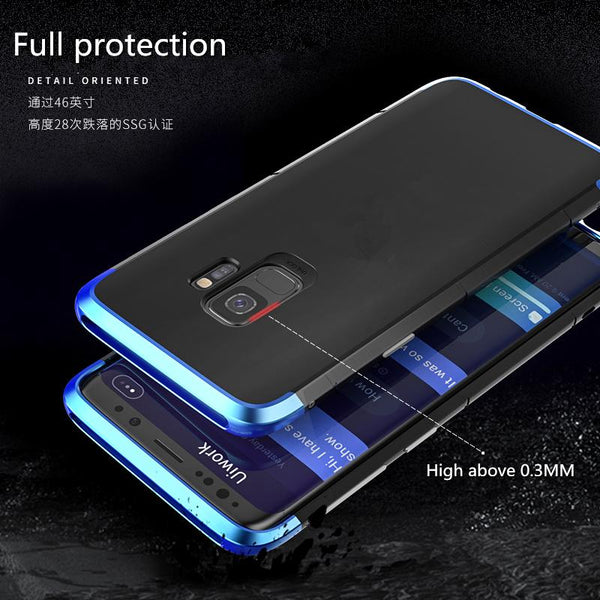 New Luxury Design Shockproof Aluminum Metal + PC Slim Bumper Cover Case for Samsung Galaxy S9 / S9 Plus