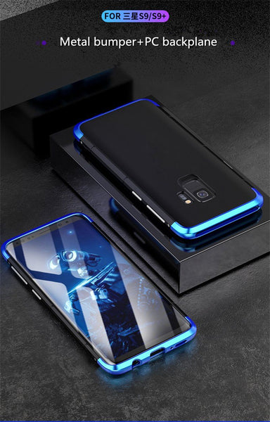 New Luxury Design Shockproof Aluminum Metal + PC Slim Bumper Cover Case for Samsung Galaxy S9 S10 Plus Series