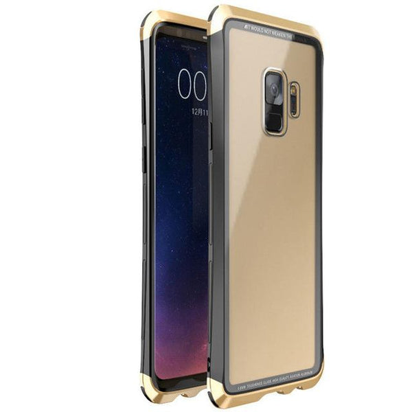 New Ultra Slim Luxury Design Metallic Frame Shell Clear Back Cover Bumper for Samsung Galaxy S9 / S9 Plus / Note 8 / Note 9