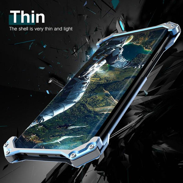 New Luxury Design Metallic Protective Armor Bumper Case for Samsung Galaxy S9 / Note 9 / S10 / Note 10 Series